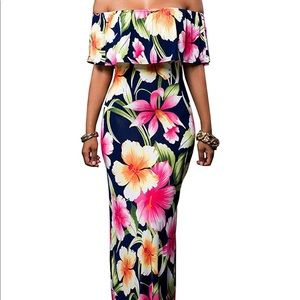 Floral Body-con Maxi Dress